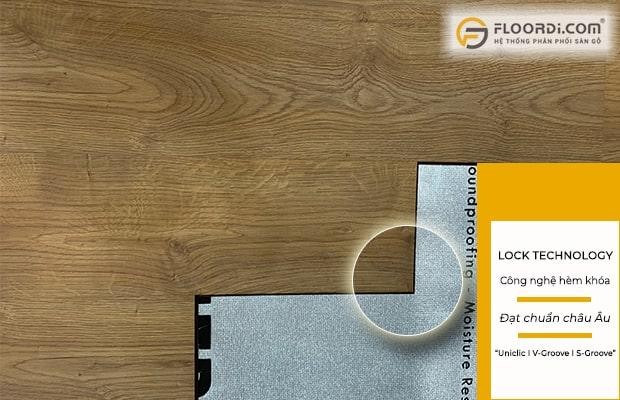 Chọn dòng sàn sử dụng công hèm khóa đạt chuẩn châu Âu đảm bảo chất lượng ổn định